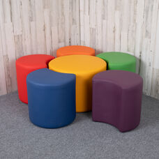 "Soft Seating Collaborative Flower Set for Classrooms and Common Spaces - Assorted Colors (18""H)"