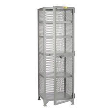 Welded Compact Storage Locker with 5 Shelves - 24