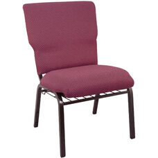 Advantage Burgundy Church Chair 20.5 in. Wide