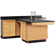Perimeter Science Wooden Workstation with 1
