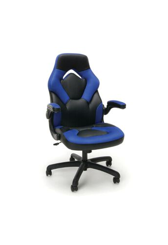 Our Essentials Racing Style Leather Gaming Chair - Blue is on sale now.