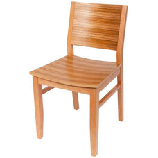 Oxford Solid Wood Armless Side Chair with Tigerwood Seat and Back - Natural
