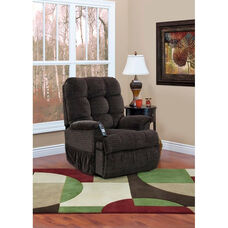Reclining Sleeper Petite Power Lift Chair with TV Position and Full Chaise Pad - Cabo Godiva Fabric