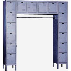 Premium Stock Box Locker Assembled - 16 Person Unit - 72