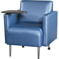 Quick Ship Eve Team Chair with Tablet and Upholstered Arms