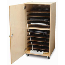 Lockable Laptop Security Cabinet with Easy Access to Plugs