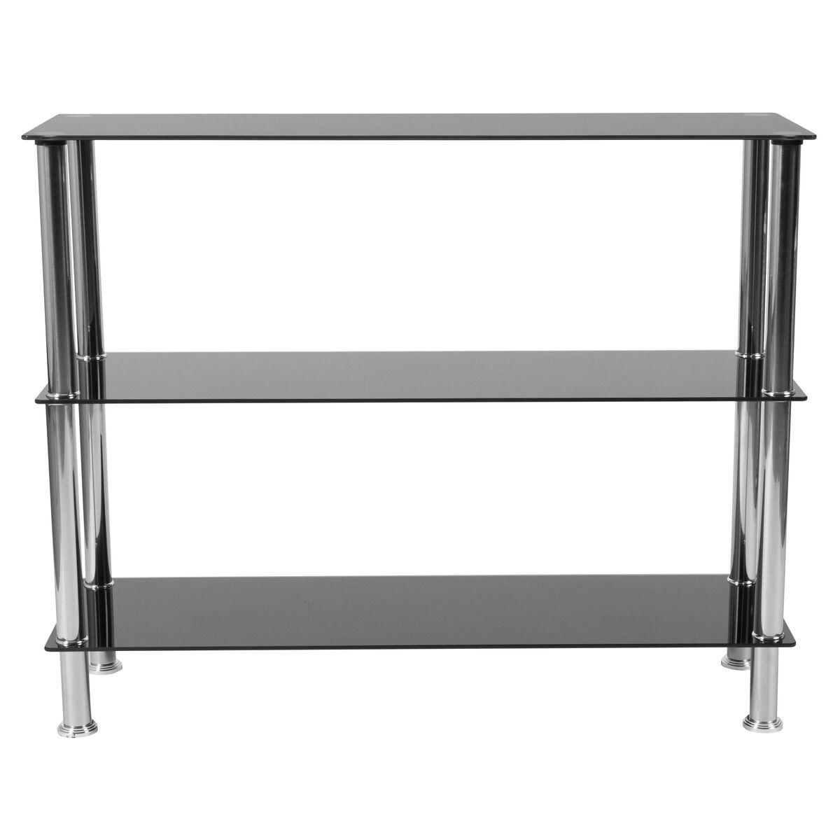 Black Glass Storage Shelf HG-112354-GG | Bizchair.com