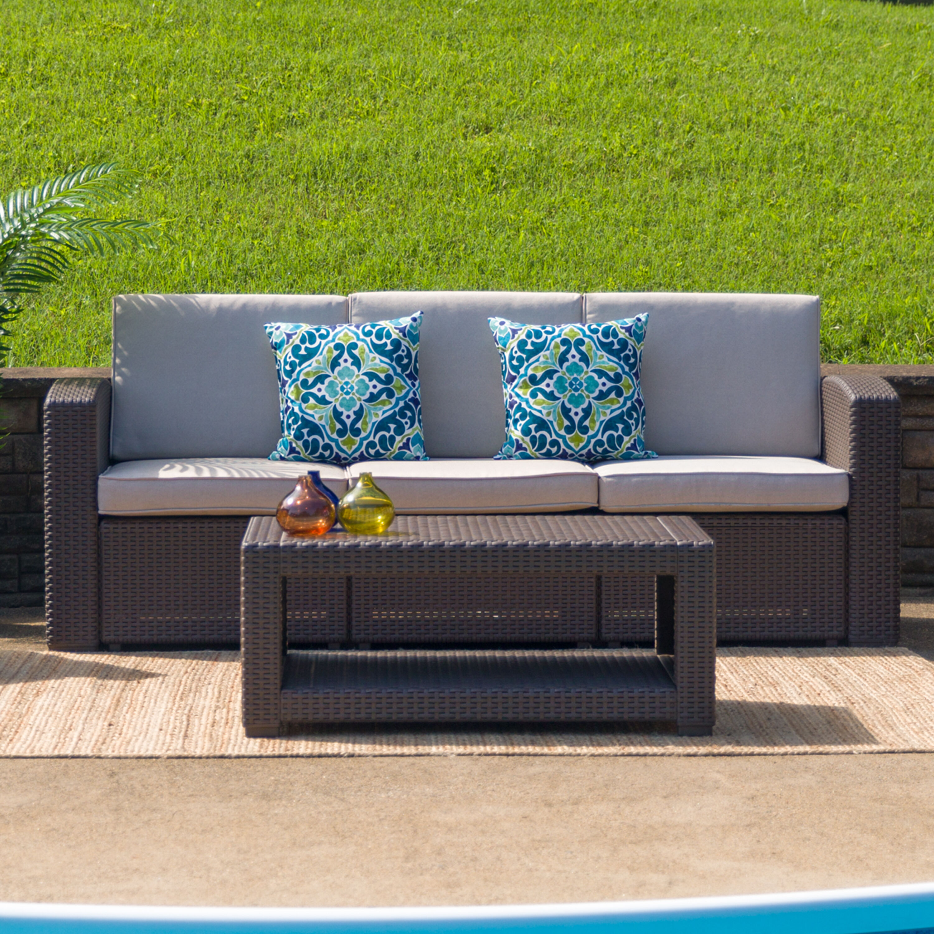 Our Chocolate Brown Faux Rattan Coffee Table Is On Sale Now.
