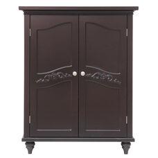 Versailles Floor Cabinet with Two Doors - Espresso