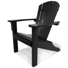 POLYWOOD® Seashell Adirondack - Black