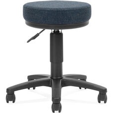 Adjustable Height UtiliStool with Stain Resistant Fabric - Blue