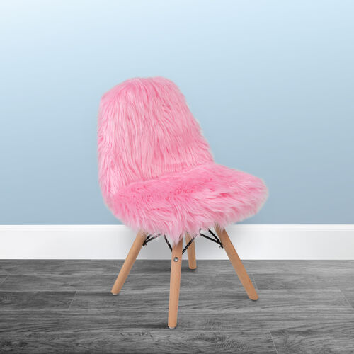 Our Kids Shaggy Dog Light Pink Accent Chair is on sale now.