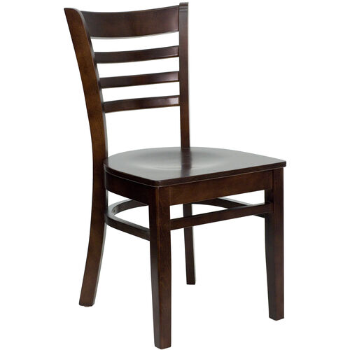 Our Walnut Finished Ladder Back Wooden Restaurant Chair is on sale now.