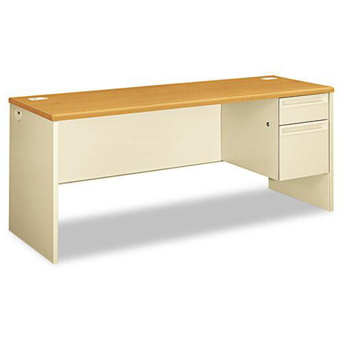 Our HON® 38000 Series Right Pedestal Credenza - 72w x 24d x 29-1/2h - Harvest/Putty is on sale now.