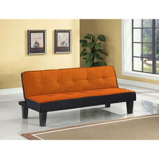 Hamar Adjustable Sofa with Tufted Fabric Seat and Back - Orange