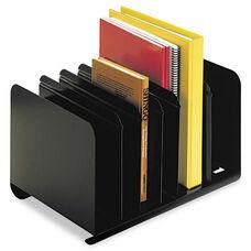 SteelMaster® Six-Section Adjustable Book Rack - Steel - 15 x 11 x 8 7/8 - Black