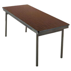 Customizable 700 Series Multi Purpose Rectangular Deluxe Hotel Banquet/Training Table with Plywood Core Top - 18''W x 72''D x 30''H