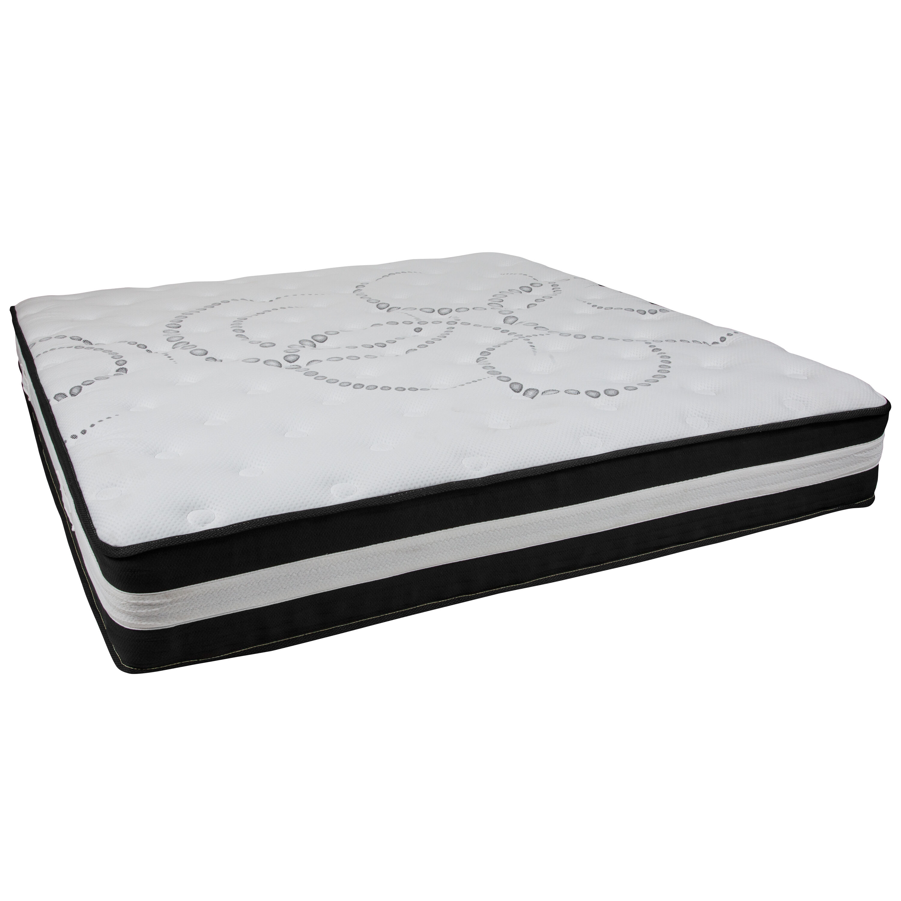 Our Capri Comfortable Sleep 12 Inch Foam And Pocket Spring Mattress, King  In A Box