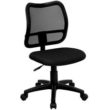 Mid-Back Black Mesh Swivel Task Office Chair