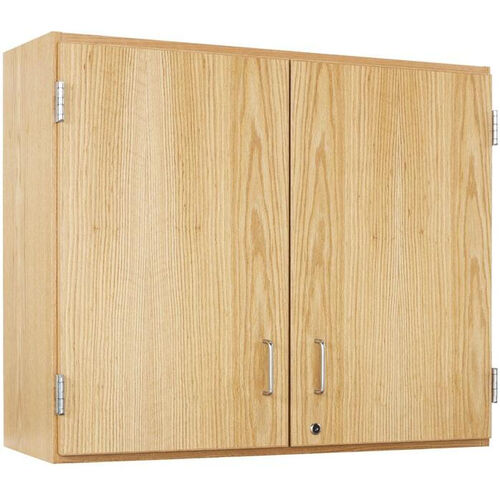 Our Science Lab Wooden Wall Cabinet with 2 Adjustable Shelves and Locking Doors - 36