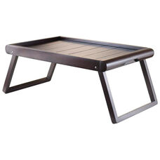 Elise Bed Tray with U-Leg and Wainscoting Top