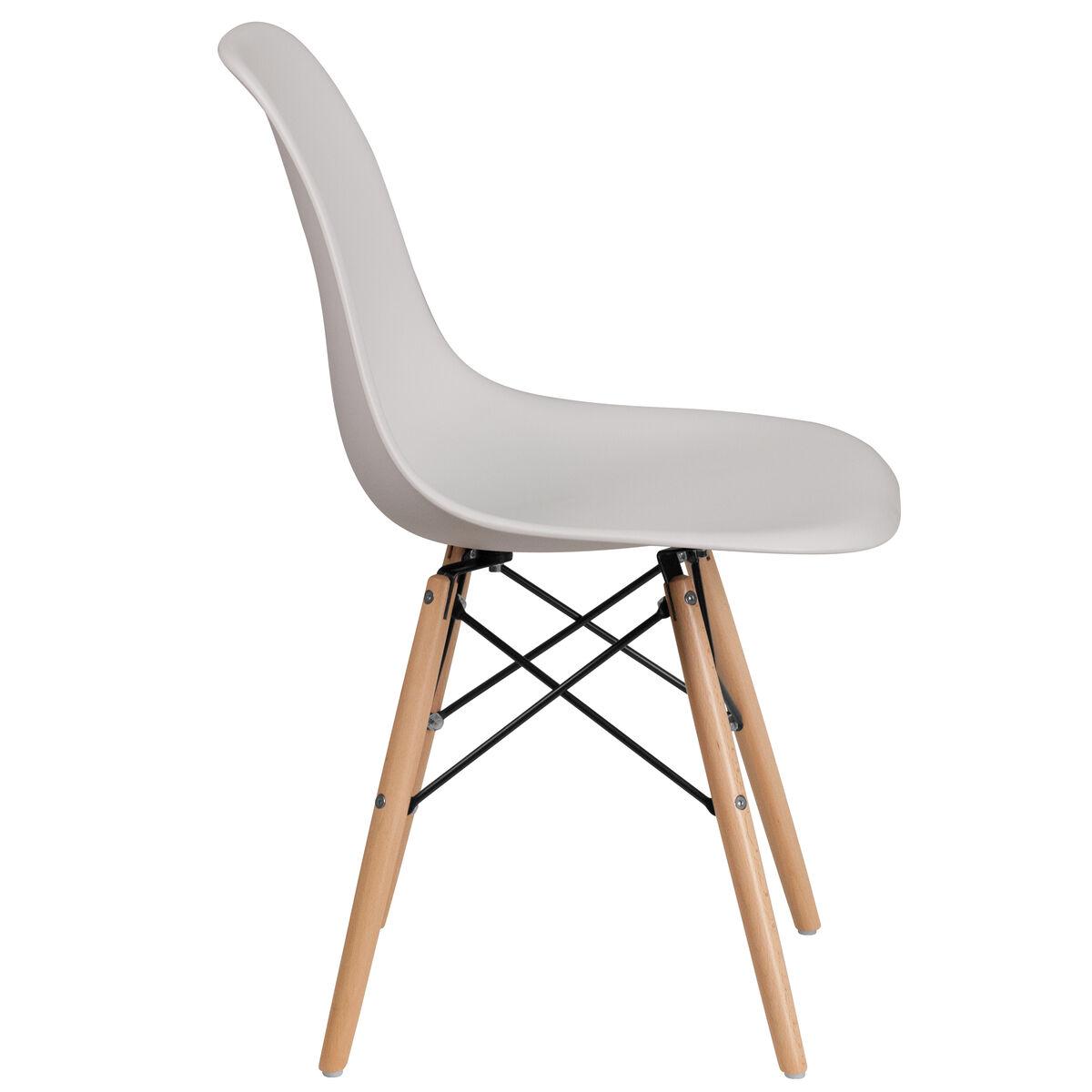 White Plastic Wood Chair Fh 130 Dpp Wh Gg Bizchair Com