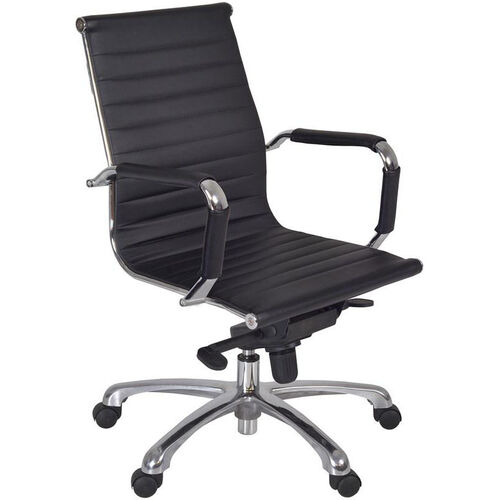 Our Solace Height Adjustable Swivel Chair with Casters - Black Leather is on sale now.