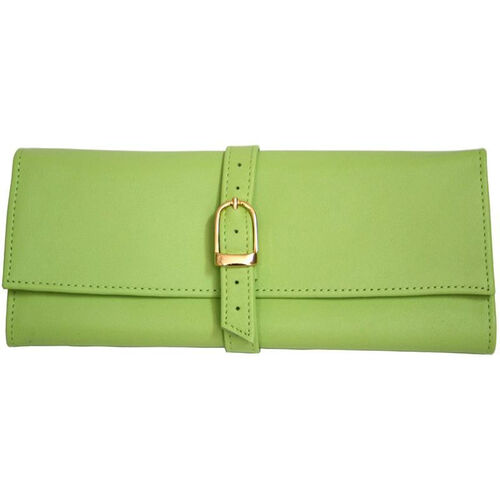 Our Jewelry Roll - Top Grain Nappa Leather - Key Lime Green is on sale now.