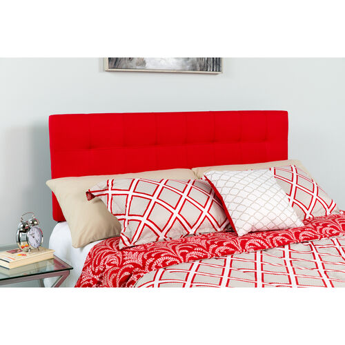 Our Bedford Tufted Upholstered King Size Headboard in Red Fabric is on sale now.