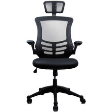 Techni Mobili Executive High Back Chair with Headrest - Black