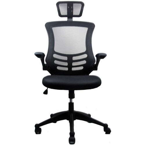 Techni Mobili Executive High Back Chair with Headrest - Black