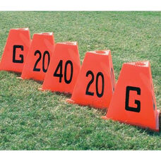 Stackable Football Vinyl Sideline Markers