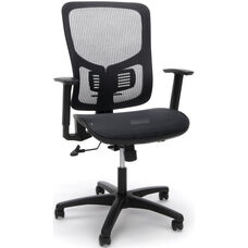 Essentials Mesh Seat Ergonomic Office Chair with Arms and Lumbar Support - Black