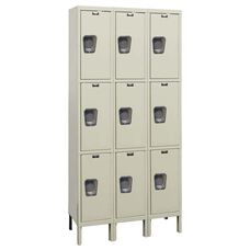 Quiet Stock Locker Three-Wide Triple-Tier Locker Unassembled - 36