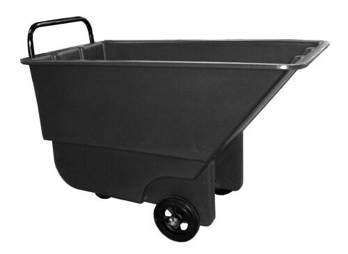 "Bayhead 5/8 Cubic Yard Light Duty Tilt Truck 600lb Capacity - 3"" casters, Black"