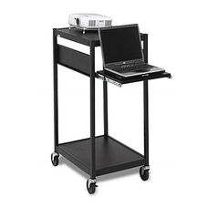 Mobile Notebook-Data Projector Cart with 6 Electrical Outlets - 24