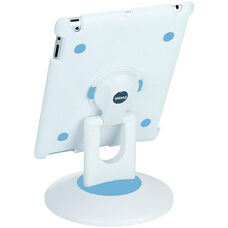 ViewStation for Various Generation iPads - White Shell with White and Blue Base