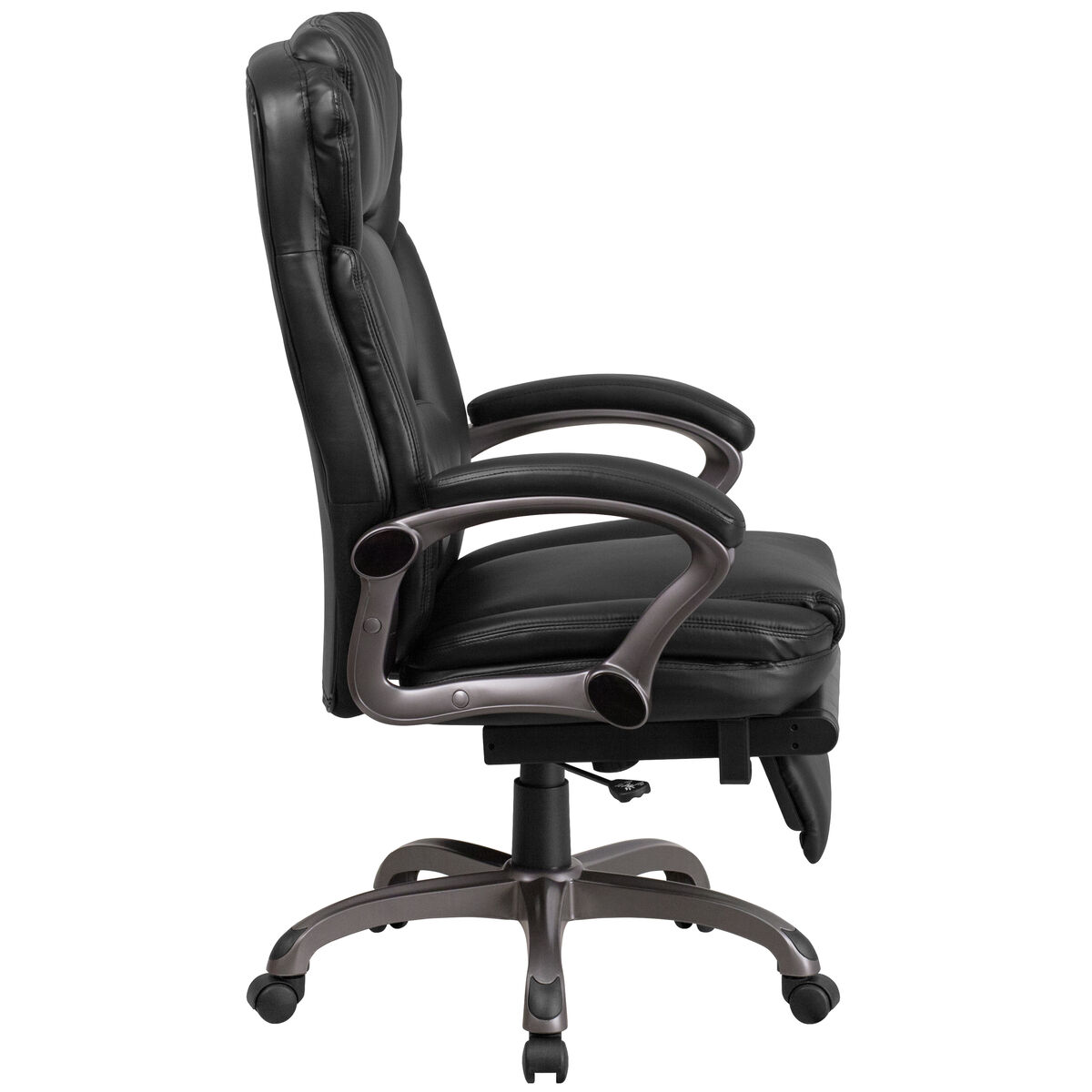 Flash Furniture High Back Black Leather Executive Reclining Swivel Chair With Arms Bt 90279h Gg Bizchair Com