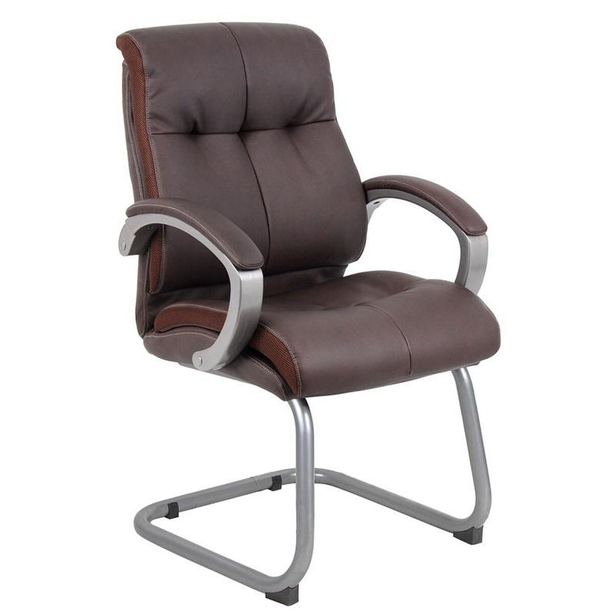 Our Double Plush Executive Guest Chair With Padded Arms Brown Is On Now