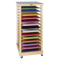 Mobile Paper Storage Rack