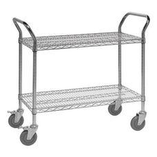 37.5''H x 18''W x 36''D 2 Shelf Wire Utility Cart