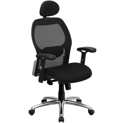 Our High Back Black Super Mesh Executive Swivel Office Chair with Knee Tilt Control and Adjustable Lumbar & Arms is on sale now.