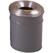Cease-Fire® Safety Drum 4.5 Gallon Waste Receptacle with Aluminum Head - Gray