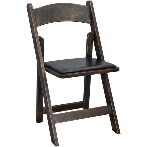 Our Advantage Wood Folding Wedding Chair - Antique Black is on sale now.