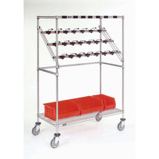 Chrome Catheter Procedure Cart - 24