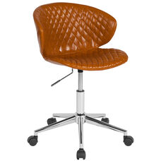 Cambridge Home and Office Upholstered Low Back Chair in Saddle Vinyl
