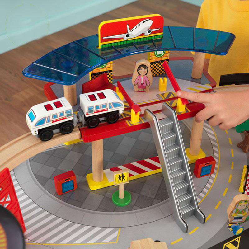High Quality ... Our Kids Wooden Train Table And Airport Express Train Set With Two  Drawers For Storage Includes ...