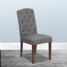 HERCULES Grove Park Series Gray Fabric Tufted Parsons Chair