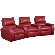 Welbourne Three Seater Home Theater - Wedge Arm in Bonded Leather