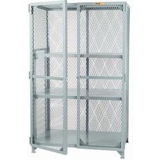 Welded Storage Locker with 2 Adjustable Center Shelves